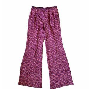 Anthropologie of two minds wide leg silk pants